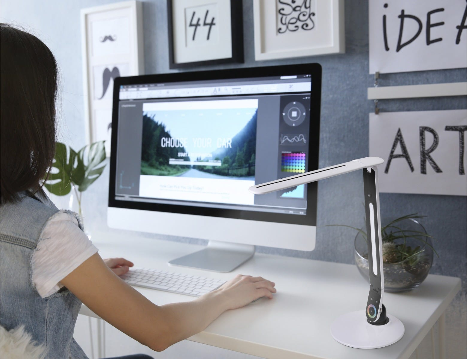 color chaning desk lamp