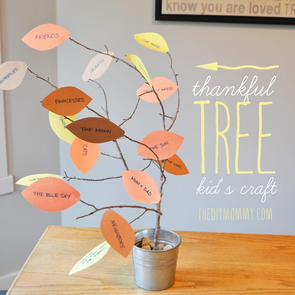 completed thannkful tree