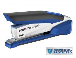 Antimicrobial Premium Desktop Stapler, Blue/Silver