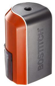 Vertical Electric Pencil Sharpener, Red Orange