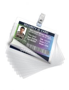 QuickShield Self-Adhesive Laminating Pouches, ID Badge, 10 Pack