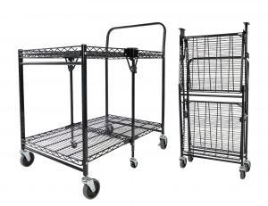 Black Utility Cart with Wheels
