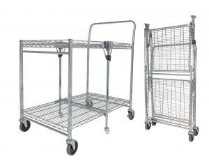 Chrome Folding Utility Cart
