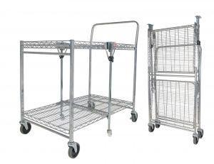 Chrome Folding Utility Cart