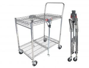 Small Utility Cart with Folding Design