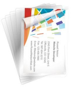 BLACK+DECKER Business Card Size Laminating Pouches, 5 mil, 100 Pack