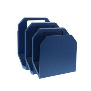 Blue 3-Piece File Organizer