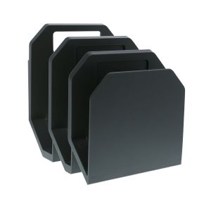 Gray 3-Piece File Organizer