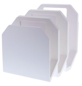 White 3-Piece File Organizer