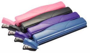 Hole Punch/Mini Stapler Combo Kit, Assorted Colors