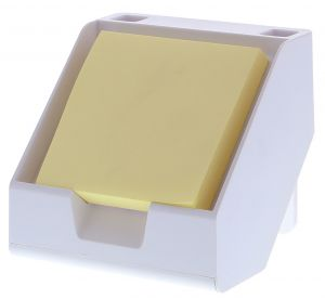 Sticky Note + Business Card Holder in White