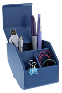 Desktop Organizer Cup Propped with Pens & Office Supplies