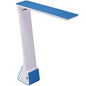 Blue Battery Operated Desk Lamp