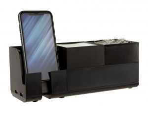 Black Stackable Desk Organizer