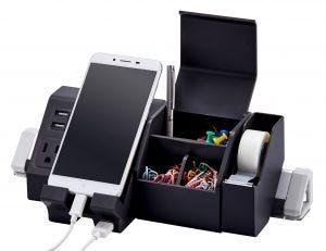 Black Desktop Charging Station