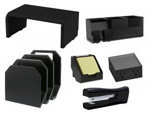 Teacher's Desk Bundle, Black