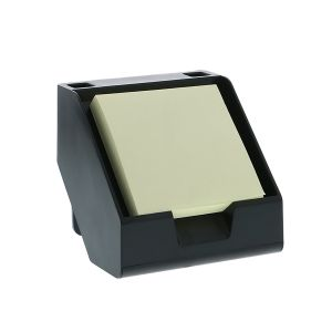 Sticky Note + Business Card Holder in Black