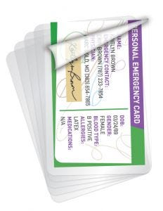 Wallet Size Laminating Pouches
