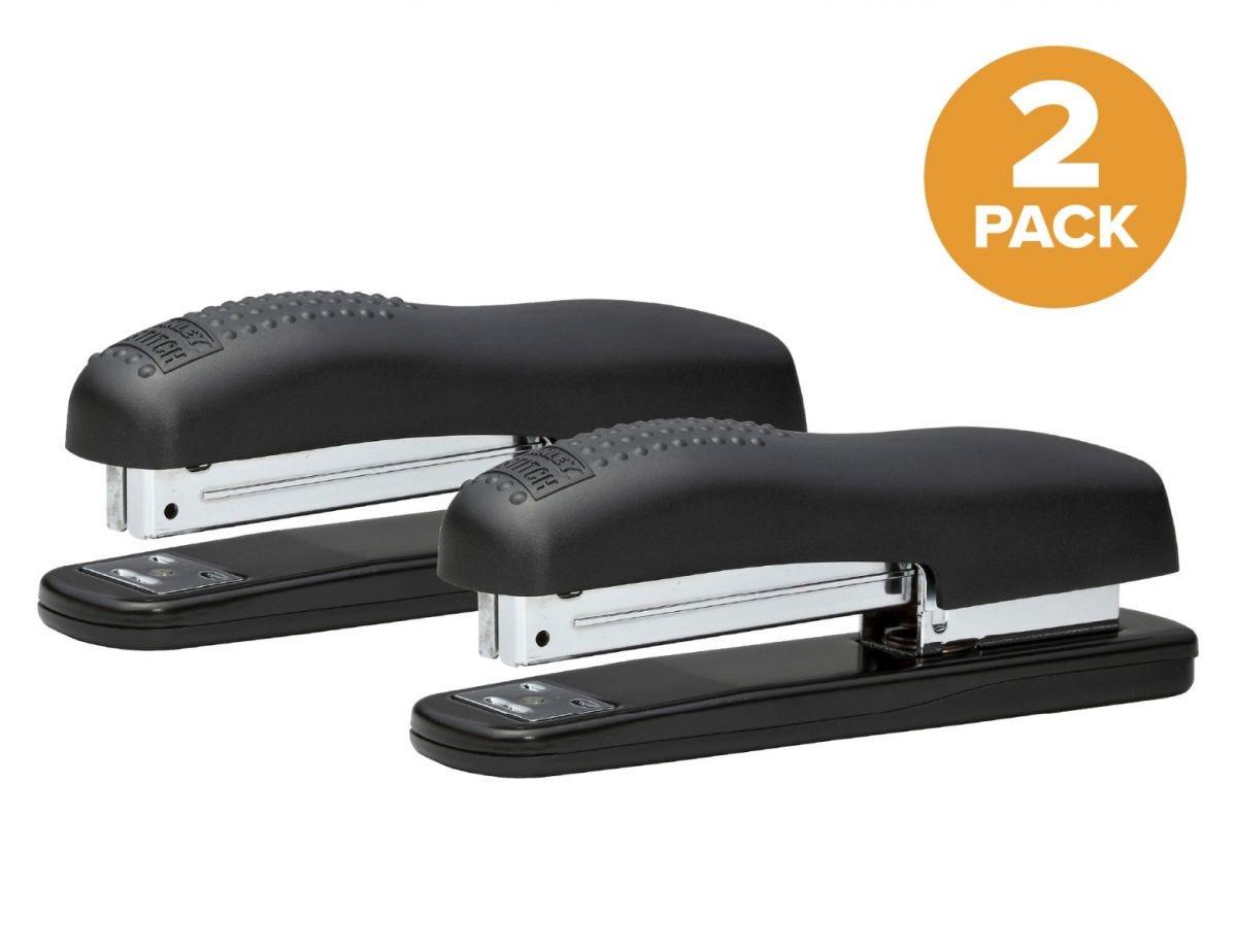 Desktop Staplers for Home Office Supplies 2 Pack Black