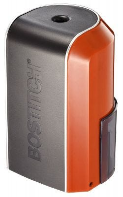 Vertical Electric Pencil Sharpener, Red Orange
