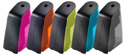 Battery Pencil Sharpener with Replaceable Cutter in Assorted Colors
