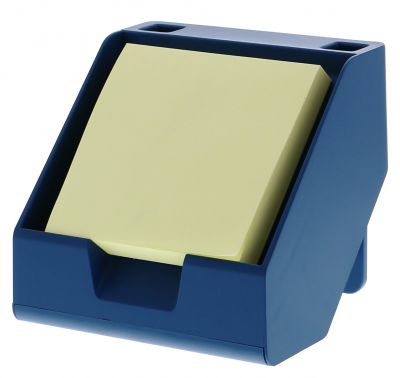 Sticky Note + Business Card Holder in Blue
