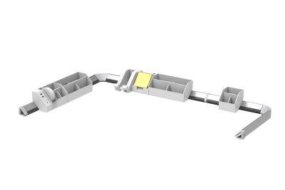 White 17-Piece Konnect™ Desktop Organizer + Cable Management Kit