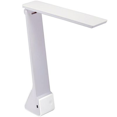 White Battery Operated Desk Lamp