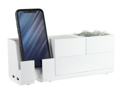 White Stackable Desk Organizer