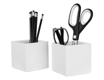White Pencil Cup Holder in 2-Pack
