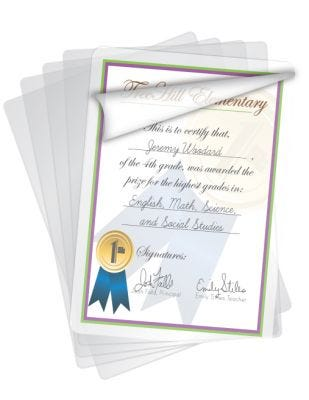 Letter Size Self-Adhesive Laminating Sheets