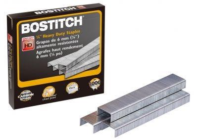 """Bostitch 1/4"""" Heavy-Duty Staples"""