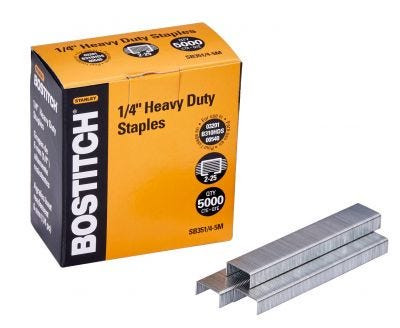 """Bostitch 1/4"""" Heavy-Duty Staples for 03201, B310HDS, and 00540"""