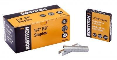 "Bostitch 1/4"" B8 Staples for B8HC, B8E, B8HDP, 00245, and B8R"