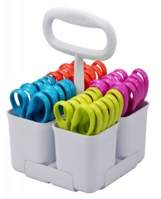 Art & Scissor Caddy with 4 Compartments