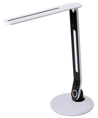 Color Changing Desk Lamp in White Finish