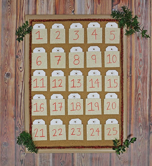 final diy advent calendar