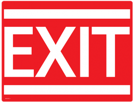 Printable Exit Sign