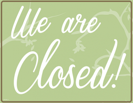 Printable Sorry We're Closed Sign