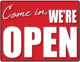 Printable We're Open Sign