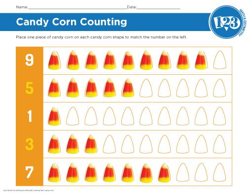 Printable Halloween Math Worksheet