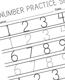 Printable Number Practice Worksheet