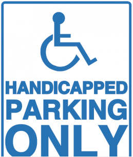 Printable Handicapped Parking Sign