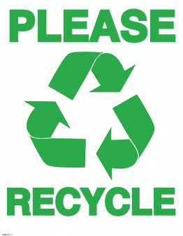 Printable Recycling Sign