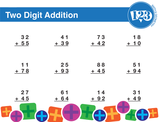 Printable Double Digit Addition Worksheet