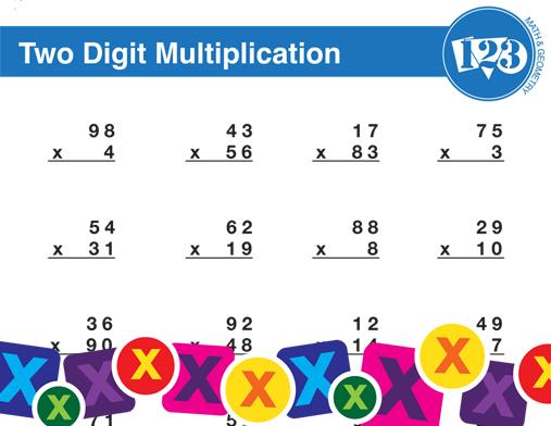 Printable Double-Digit Multiplication Worksheet