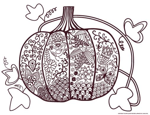 Printable Pumpkin Coloring Page