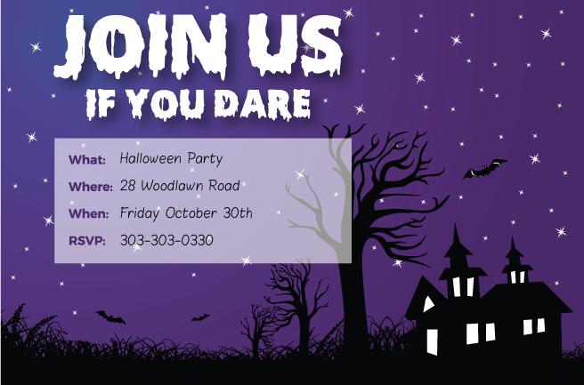 Printable Halloween Party Invites