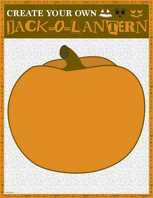 Printable Jack-o-lantern Craft