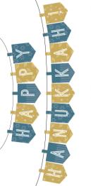 Printable Hanukkah Banner